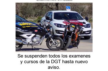 Exámenes suspendidos covi-19